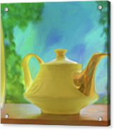 Yellow Teapot And Bowl Acrylic Print