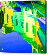Yellow Toned Reflections Acrylic Print