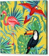 Yellow Tropic  Acrylic Print