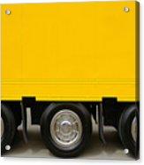 Yellow Truck Acrylic Print by Carlos Caetano