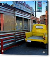 Yellow Truck Acrylic Print