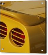 Yellow Vette Lights Acrylic Print