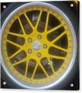 Yellow Vette Wheel Acrylic Print
