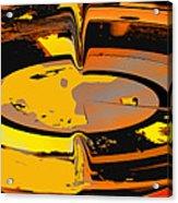 Yellow Vortex Acrylic Print