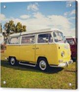 Yellow Vw T2 Camper Van 02 Acrylic Print