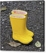 Yellow Wellies Acrylic Print