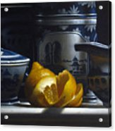 Yellow White Blue Acrylic Print