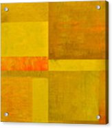 Yellow With Orange Acrylic Print