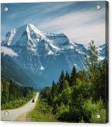 Yellowhead Highway In Mt. Robson Provincial Park, Canada Acrylic Print