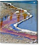 Yellowstone Abstract I Acrylic Print by Teresa Zieba