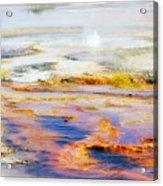 Yellowstone Abstract II Acrylic Print
