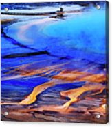 Yellowstone Grand Prismatic Spring Geothermal Water Acrylic Print