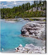 Yellowstone Grand Prismatic Spring Acrylic Print