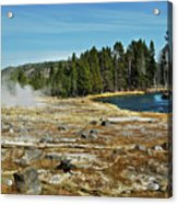 Yellowstone Hot Springs Acrylic Print