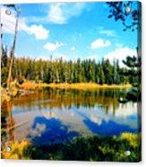 Yellowstone Lake In Summer Acrylic Print