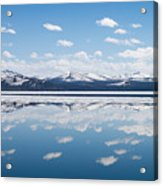 Yellowstone Lake Reflection Acrylic Print