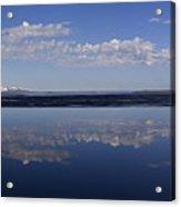 Yellowstone Lake Reflection-signed-no Bird Acrylic Print