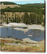 Yellowstone Mineral Ponds Acrylic Print