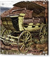 Yellowstone Park Stage Coach With Horses Pa 01 Acrylic Print