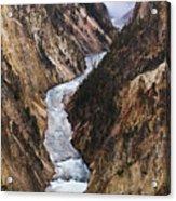 Yellowstone River Falls Acrylic Print