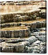 Yellowstone Rock Formation Acrylic Print