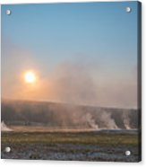 Yellowstone Sunrise  Acrylic Print