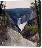 Yellowstone Water Fall Acrylic Print