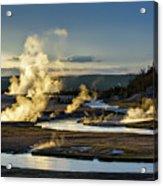 Yellowstone's Midway Geyser Basin  Acrylic Print