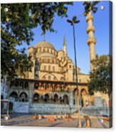 Yeni Cami , New Mosque , In The Morning, Istanbul, Turkey. Acrylic Print