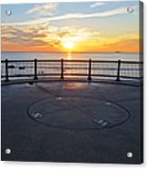 Yes, The Sun Rises To The East Red Rock Park Lynn Shore Drive Acrylic Print