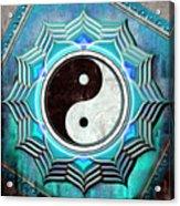 Yin Yang -  The Healing Of The Blue Chakra Acrylic Print