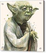 Yoda Portrait Acrylic Print