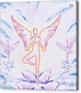 Yoga Angels  Acrylic Print