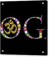 Yoga Aum Acrylic Print