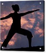 Yoga Sunset Acrylic Print