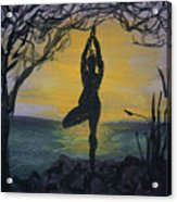 Yoga Tree Pose Acrylic Print