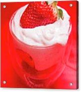 Yoghurt And Berry Dessert Acrylic Print