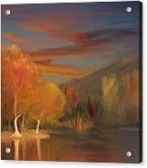Yorba Linda Lake By Anaheim Hills Acrylic Print