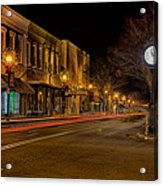 York South Carolina Downtown During Christmas Acrylic Print