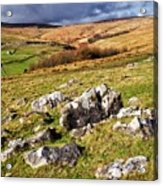 Yorkshire Dales Limestone Countryside Acrylic Print