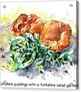 Yorkshire Puddings With Yorkshire Salad Garnish Acrylic Print