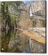 Yosemite Falls Reflection Acrylic Print
