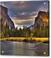 Yosemite- Gates Of The Valley Acrylic Print