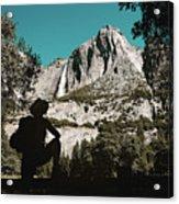 Yosemite Hiker Acrylic Print