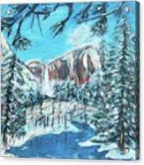 Yosemite In Winter Acrylic Print