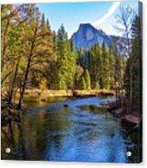 Yosemite Merced River With Half Dome Acrylic Print