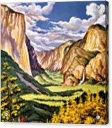 Yosemite National Park Vintage Poster Acrylic Print