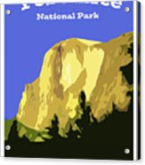 Yosemite Poster Acrylic Print