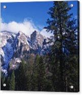Yosemite Three Brothers In Winter Acrylic Print