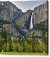 Yosemite Upper And Lower Falls Acrylic Print